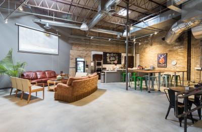 reception venue at the garage