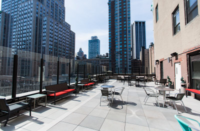 amazing sf rooftop terrace in midtown overlooking the empire state building hs in midtown