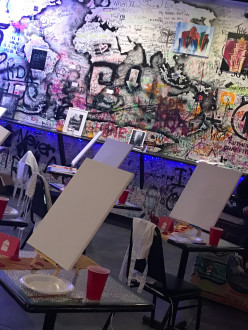 Crazy urban looking Space with graffiti and painting, bar and restaurant in Downtown, Atlanta, GA | Peerspace