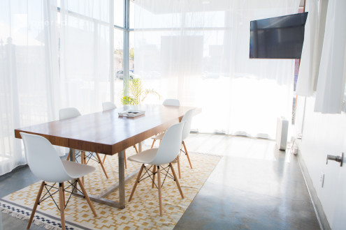 Modern Conference Room with Natural Light and Sunny Patio for Lunch in Alameda, CA | Peerspace