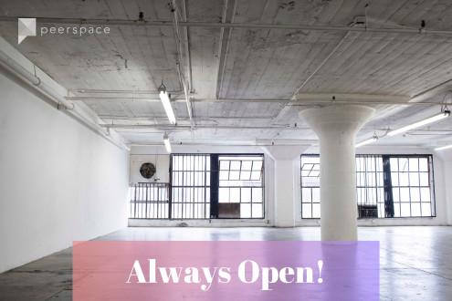 Large Naturally 24 hour Lit Multi-purpose Studio in Central LA, Los Angeles, CA | Peerspace