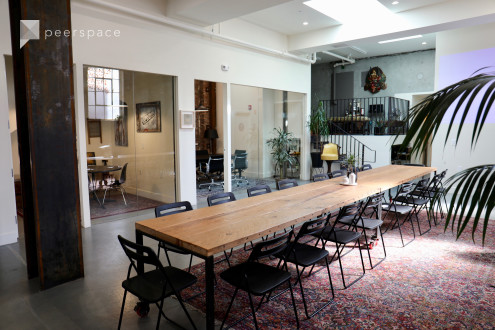 Bright Industrial Style Meeting Space - Main Gallery (Ground Level) in Mission District, San Francisco, CA | Peerspace
