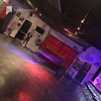 Urban Warehouse Space with Graffiti and Painting, Bar and Restaurant in Downtown, Atlanta, GA | Peerspace