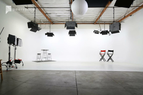 Amazing Fully Lit Film & Photo Studio with White Cyclorama Wall - Lights Included! in Grand Central, Glendale, CA | Peerspace
