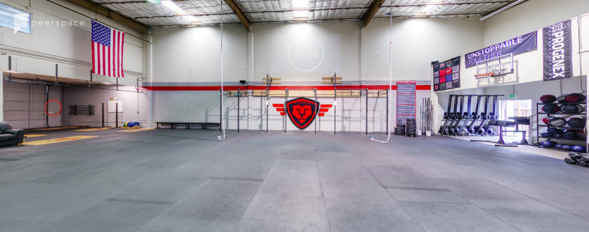 Big Open Warehouse space ( GYM)      - Good Light in North Central, San Mateo, CA | Peerspace