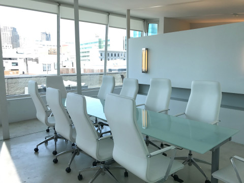 Modern Penthouse Conference Room With Rooftop Near