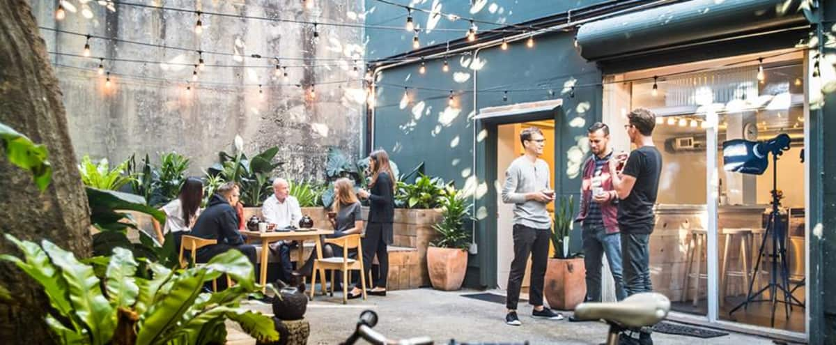 Creative Industrial Event Space with Large Private Patio and Full Kitchen All Event Types Hero Image in Mission District, san francisco, CA