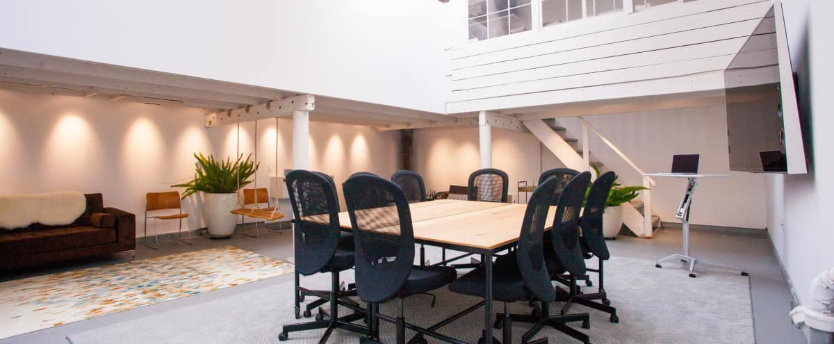 25'x30' Meeting Space Within Converted West-SOMA Industrial Building Hero Image in South of Market, San Francisco, CA