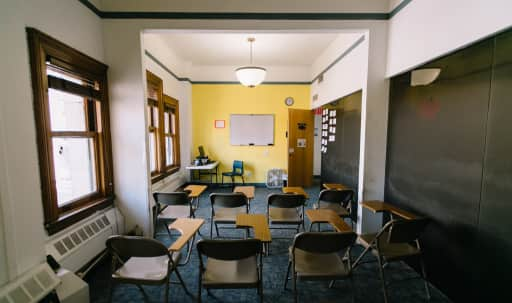 Spacious school with stunning city views available for classes, conferences, and work space. in Midtown, New York, NY | Peerspace