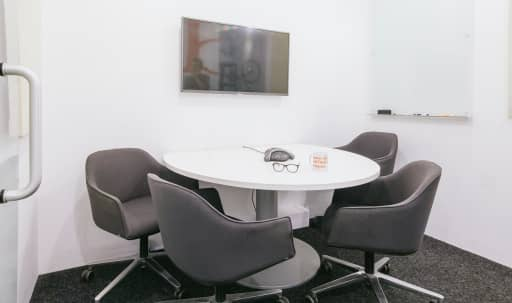 4-5 person conference room within bright, modern coworking space. in Midtown, New York, NY | Peerspace