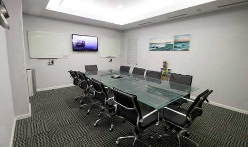 Modern Medium Meeting Room for 12 near Penn Station - PS in Garment District, New York, NY | Peerspace