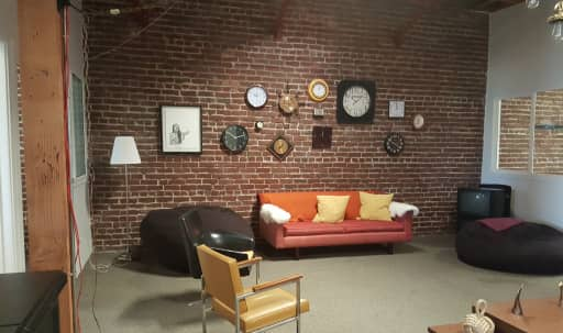 Creative Lounge with Natural Light and Exposed Brick in South of Market, San Francisco, CA | Peerspace