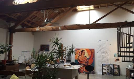 Spacious, Rustic Loft near DTLA w/exposed brick&wood beam in Boyle Heights, Los Angeles, CA   Peerspace