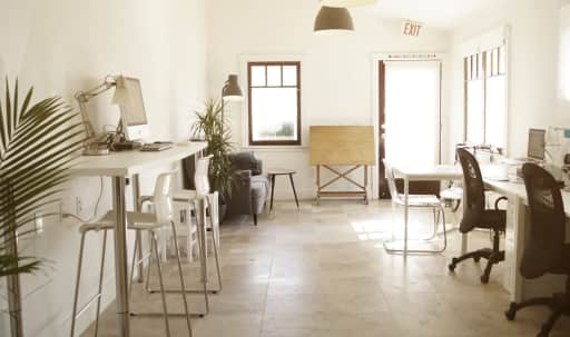 Studio Office Near the Pier with White Walls and Bright Windows in South Redondo, Redondo Beach, CA | Peerspace
