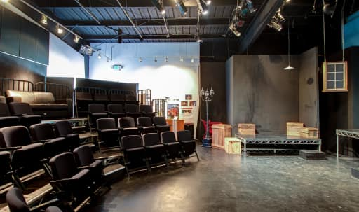 Intimate theatre space located in vibrant arts center of reclaimed industrial buildings in Pico, Santa Monica, CA | Peerspace