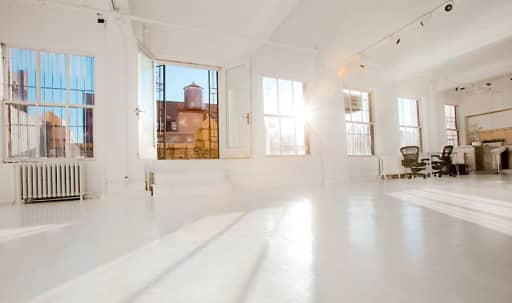 Sun Drenched, All White, Loft with Adjacent Rooftop Space in Midtown, Ny, NY | Peerspace