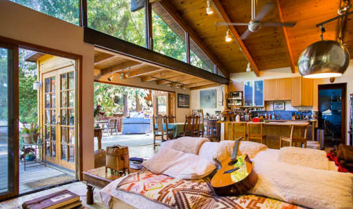 Modern rustic home at the edge of the State Park in Topanga with ocean view in undefined, Topanga, CA   Peerspace