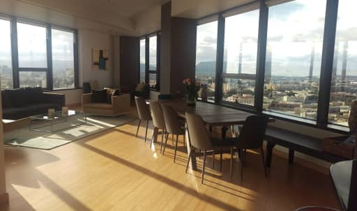 200 degree views of the city in Unique DTLA Spacious and Sun Filled Apt in Central LA, Los Angeles, CA | Peerspace