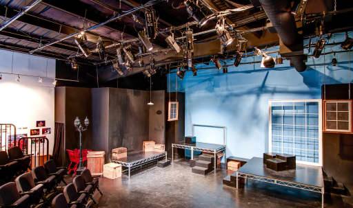 Intimate theatre space located in vibrant arts center of reclaimed industrial buildings in Pico, Santa Monica, CA | Peerspace
