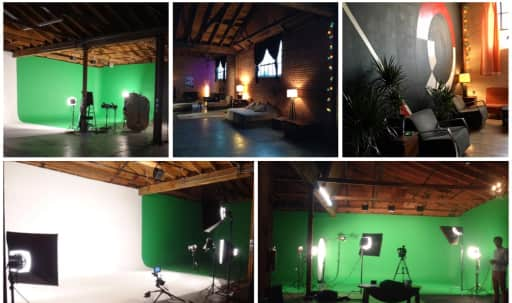 Large White/Green Screen Studio with Multiple Sets in Central LA, Los Angeles, CA | Peerspace