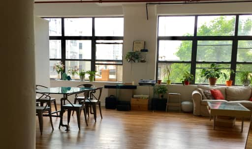 Oversized Sun Drenched Loft In Trendy Williamsburg Loft (Old Ammunition Factory) in Williamsburg, Brooklyn, NY   Peerspace