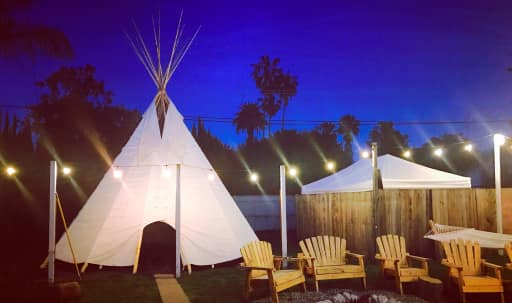 Tipi with Large Backyard and Fire pit in Mar Vista in Mar Vista, Los Angeles, CA | Peerspace