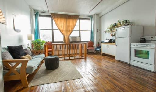 1,000 sqft Duplex Loft: Bright Upstairs, Dark Downstairs, Rooftop in Bushwick, Brooklyn, NY | Peerspace