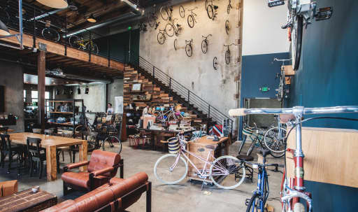Urban Industrial Bike Shop + Coffee Shop in the Arts District in Central LA, Los Angeles, CA   Peerspace