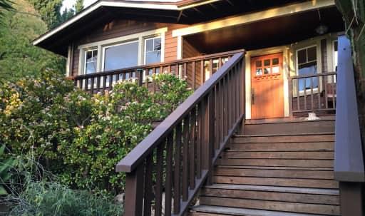 California Bungalow style house with giant jungle plantlife and huge deck in Los Feliz, Los Angeles, CA | Peerspace