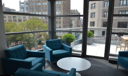 Sun-Drenched Meeting Room with Private Terrace in Lower Manhattan, New York, NY | Peerspace