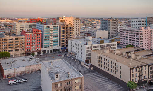 Rooftop with Downtown Skyline View in Historic Core, Los Angeles, CA | Peerspace