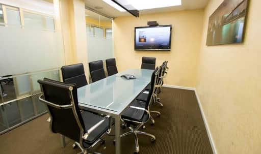 Winter promo - Meeting Room with Frosted Glass Conference Table on 3rd Floor near Grand Cental - GC in Midtown, New York, NY | Peerspace