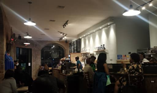 Brooklyn Cafe with a Vintage Ambiance, Exposed Brick Space with Large Windows and Natural Light in Bedford-Stuyvesant, Brooklyn, NY | Peerspace