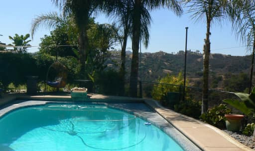 Cool space, always heated pool, spectacular view, relax or party place. in undefined, Topanga, CA | Peerspace