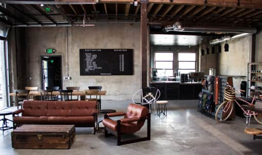 Urban Industrial Bike Shop + Coffee Shop in the Arts District in Central LA, Los Angeles, CA | Peerspace