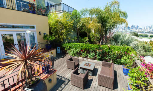 Potrero Hill View w Excellent Inside and Outside Space - Patio and Back Yard in Potrero Hill, san francisco, CA | Peerspace