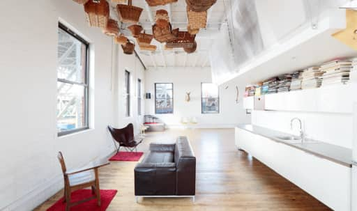 Perched atop the Gowanus Industrial Arts Complex — a sun-drenched, epic space for creatives to explore and express their ideas. in Park Slope, Brooklyn, NY | Peerspace