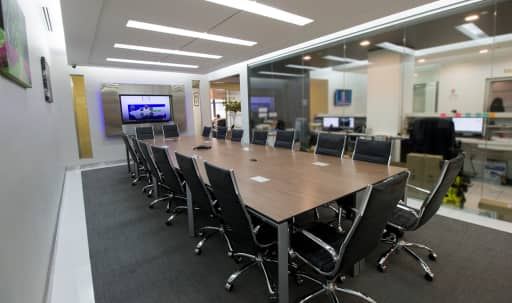 Large Glass Meeting Room for 18 - Meeting Room A - HS in Midtown, New York, NY | Peerspace
