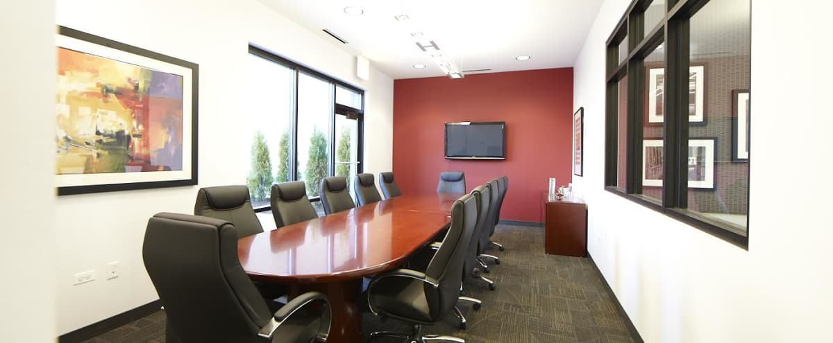 Boardroom in West Loop Business Center in Chicago Hero Image in Near West Side, Chicago, IL