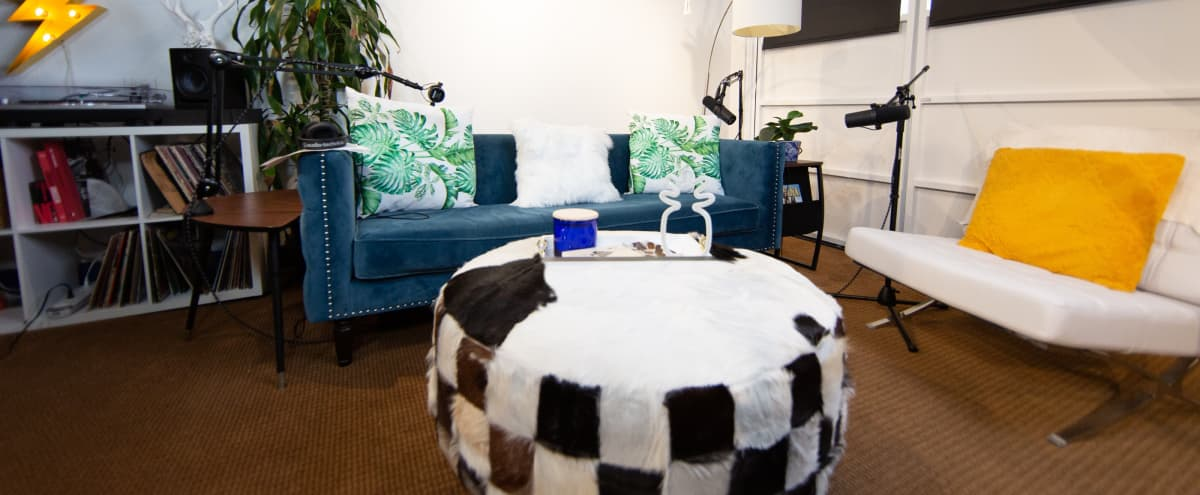 Fully Decorated Modern Podcast Studio w/Engineer in Los Angeles Hero Image in Eagle Rock, Los Angeles, CA