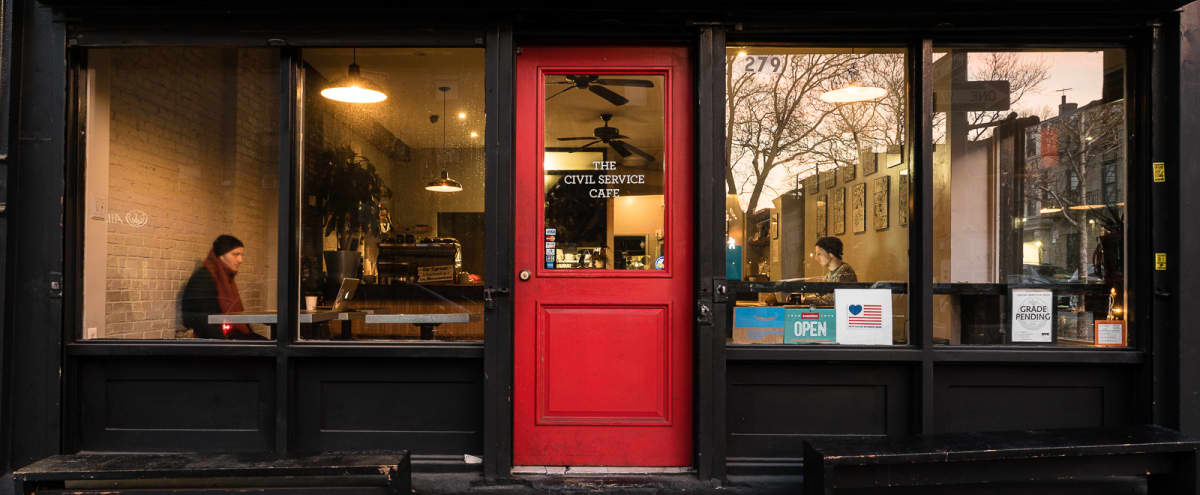 Charming and Popular Bedstuy Cafe a Neighborhood Gem Ideal for Private Events in Brooklyn Hero Image in Bedford-Stuyvesant, Brooklyn, NY