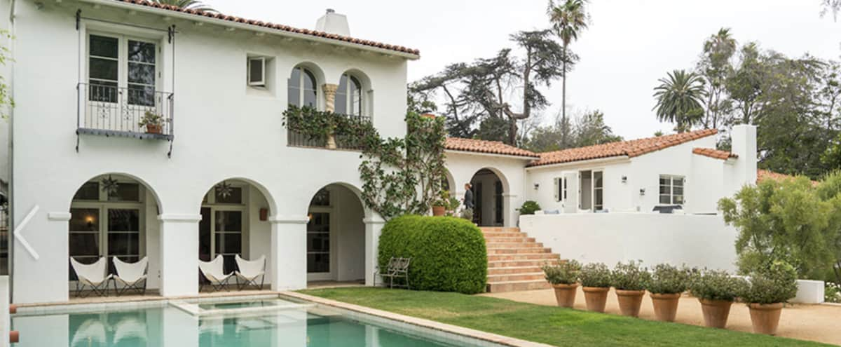 Spanish Style Villa Mansion Compound with Pool, Bocce Court, & Sauna in Brentwood in Los Angeles Hero Image in Brentwood, Los Angeles, CA