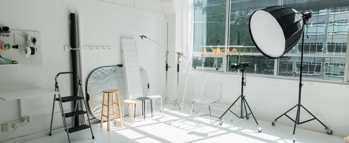Fully Equipped Natural Light Studio with Backdrops INCLUDED in Seattle Hero Image in Lower Queen Anne, Seattle, WA