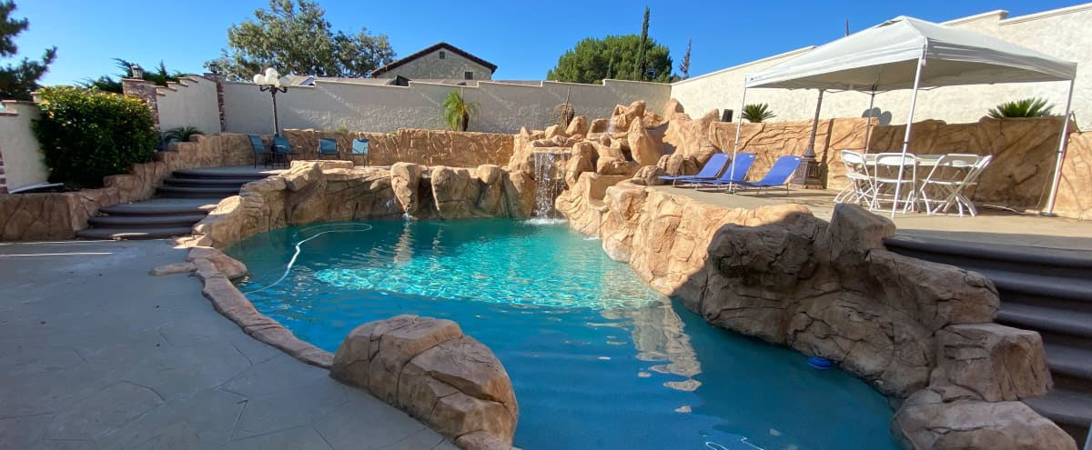 Urban Farm House with Big Pool, Waterfall, Slide, Spa, Horses and Chickens! in Riverside Hero Image in undefined, Riverside, CA