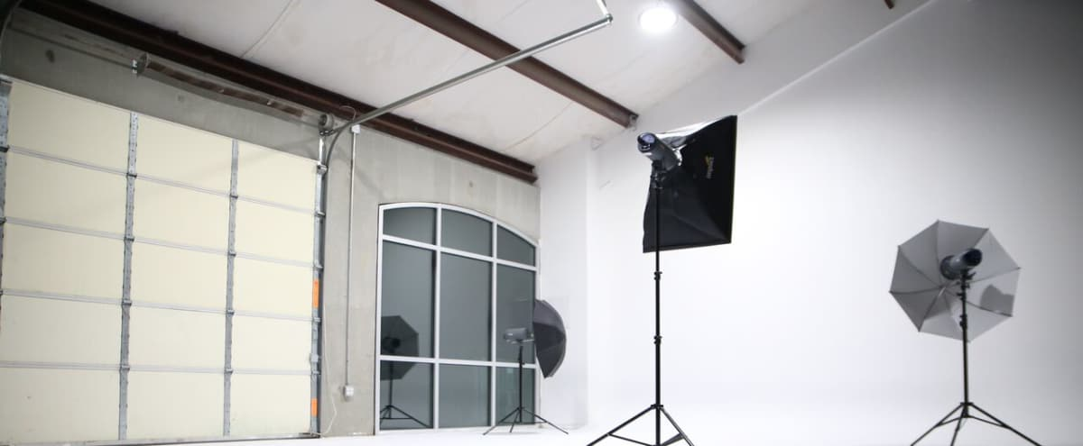 All White Studio Space With Garage Access Perfect For Photoshoots And Car Auto Productions