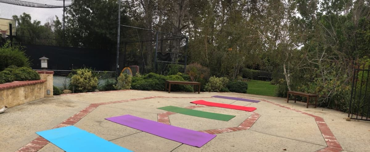 Spacious Private Outdoor Activity Space with Netted Sports Court. Perfect for Fitness Classes, Workouts, Sports, Group Training, and Kid Activities. in Chatsworth Hero Image in Chatsworth, Chatsworth, CA