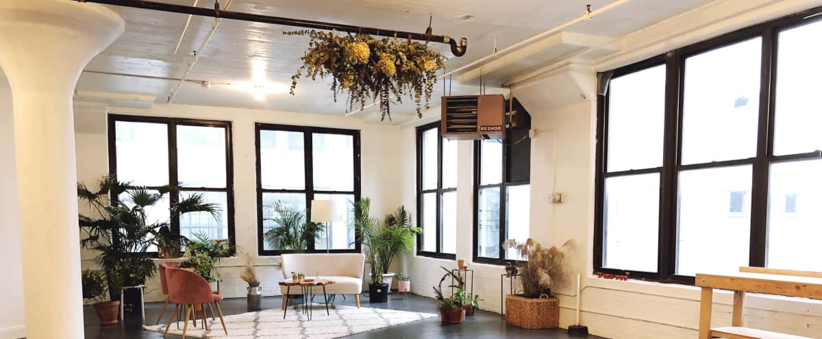 Big + Bright Floral Studio with Chic Lounge in Brooklyn Hero Image in Clinton Hill, Brooklyn, NY
