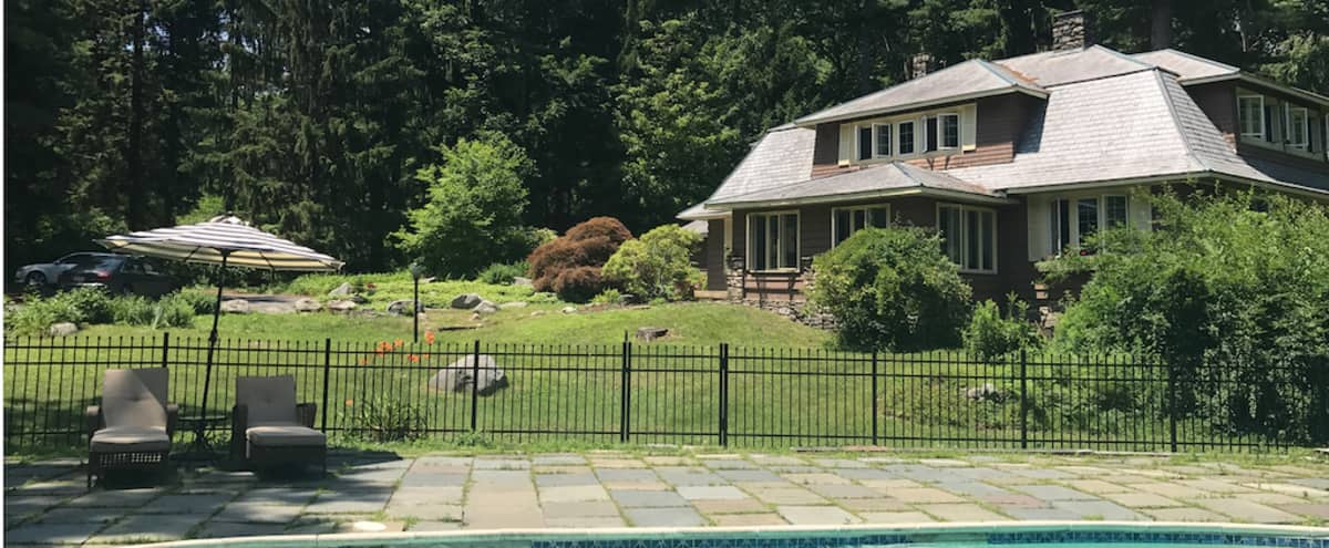 Pocono Mountains Secluded Arts and Crafts Style Estate on 10 Acres of forest in Cresco Hero Image in undefined, Cresco, PA