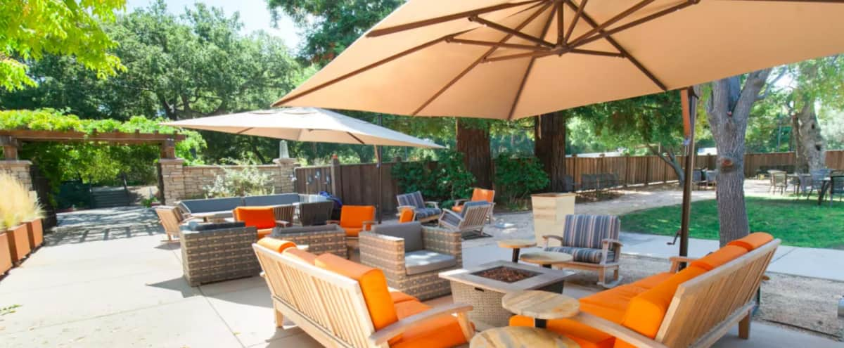 Patio Event Space in Menlo Park in Menlo Park Hero Image in Linfield Oaks, Menlo Park, CA