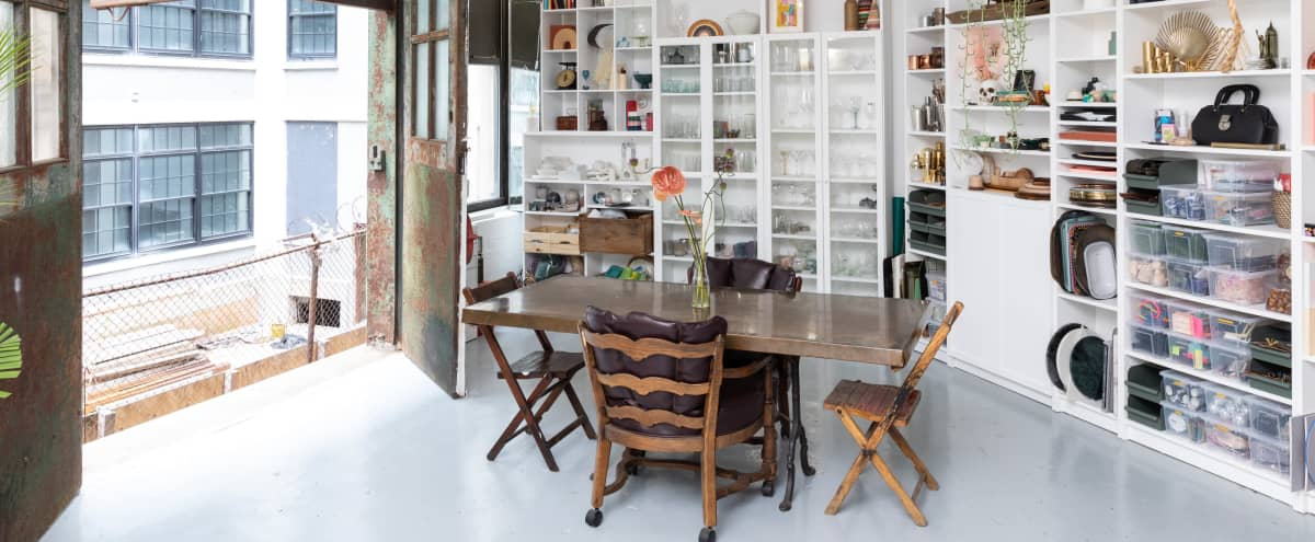 Plant-Filled Artist Loft with Surfaces + Props in Brooklyn Hero Image in Clinton Hill, Brooklyn, NY